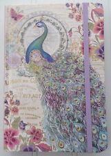 Punch Studio ~ Purple Gold Peacock Elegance ~ Journal w/Bungee Closure 95084