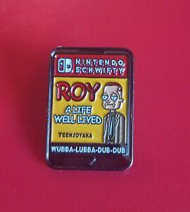 Rick-And-Morty-Pin-Game-Of-Roy-Pin-Enamel-Retro-Metal-Brooch-Badge-Lapel