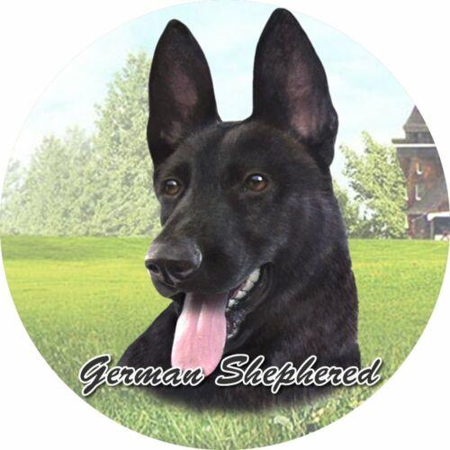 German Shepherd-Black Absorbent Stone CAR Coaster by E/&S Pets