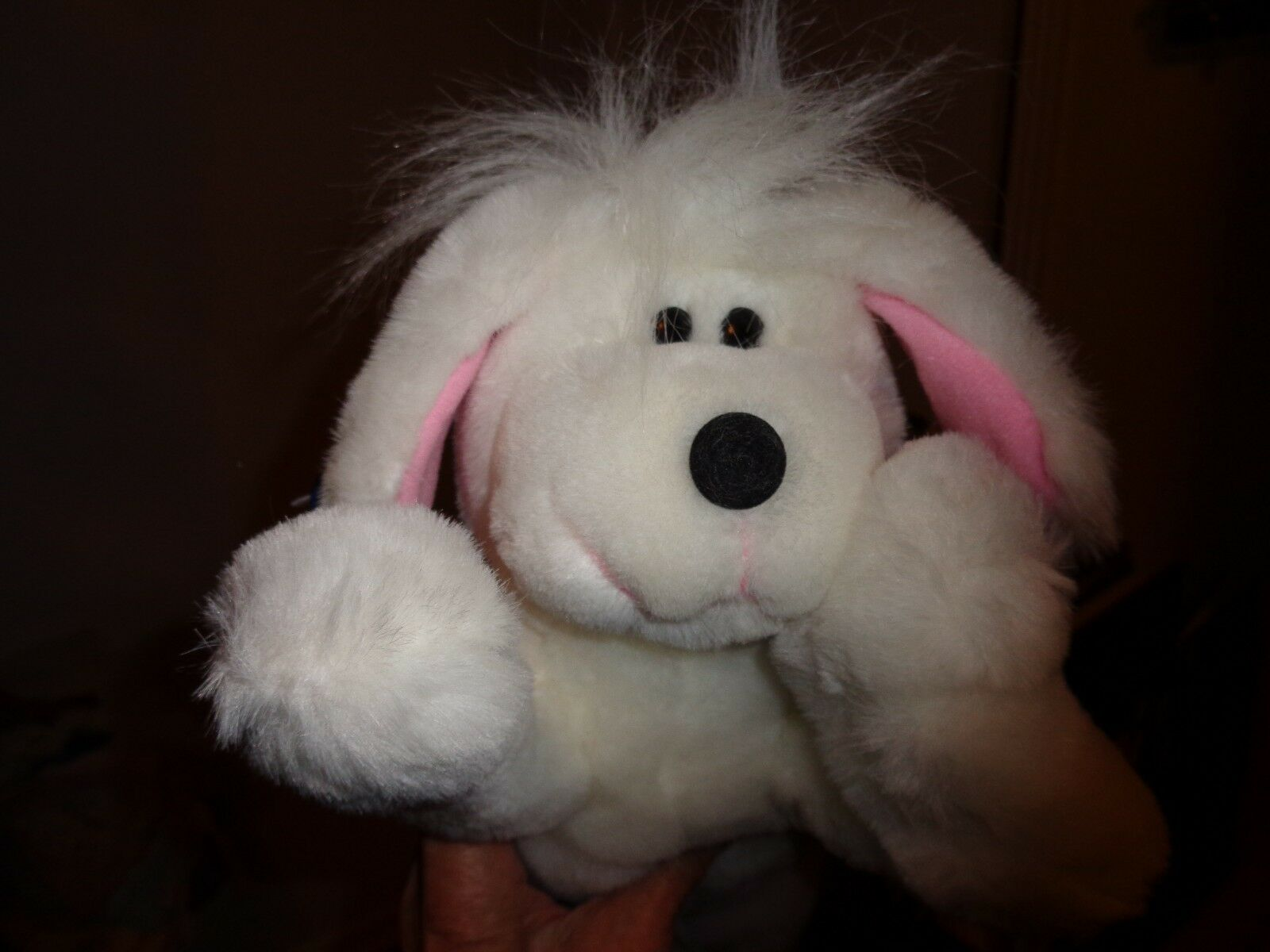 Applause 1989 Daydreamers Ajax Weiß Plush Puppy Dog Stuffed Animal Rare 14