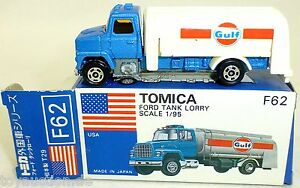 Gulf-Ford-TANQUE-CAMIoN-TOMICA-N-F62-TOMY-1-95-Hecho-en-Japon-NUEVO-EN-CAJA-a