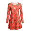 Plus-Size-Womens-Christmas-Mini-Swing-Dress-Xmas-Party-Long-Tops-T-Shirt-AU-5XL thumbnail 12