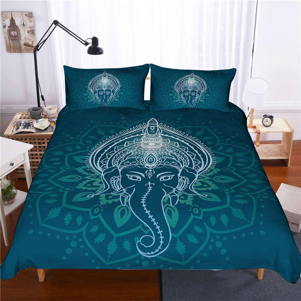 Buddha Has A Long Nose 3D Digital Print Bedding Duvet Quilt Cover Pillowcase