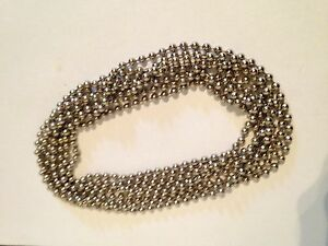 Details about ROLLER / ROMAN BLIND CONTINUOUS LOOP NICKEL BEADED CHAIN -  1 5 MTR DROP