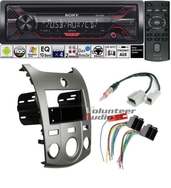 Interior Sony Car Stereo Radio Bluetooth CD Player Dash Install