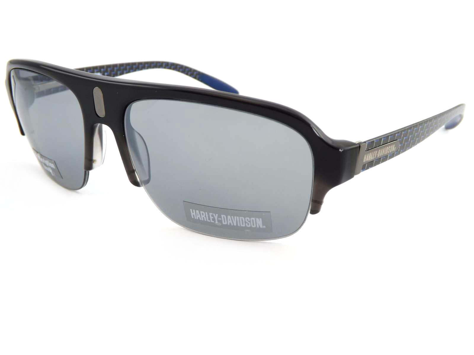 Harley Davidson Kohlenstofffaser Dunkelgrau Dunkelgrau Dunkelgrau Blau Sonnenbrille Verspiegelte Linse  | Vollständige Spezifikation  355970