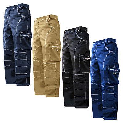 "Work Wear Cargo Trousers Working Pants Combat Waist 28/"" 62/""  Knee Padded"
