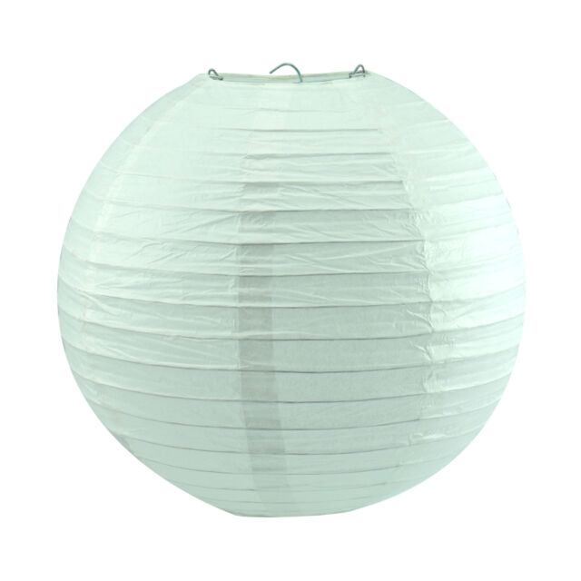 "10PCS 12"" White Round Paper Lanterns Church Wedding Dance Party Wish Lamps Decor"