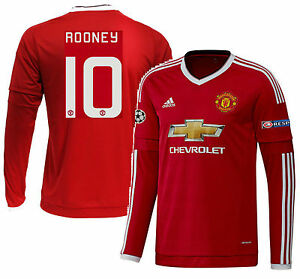 8a9496b478d Image is loading ADIDAS-W-ROONEY-MANCHESTER-UNITED-LS-UEFA-CHAMPIONS-