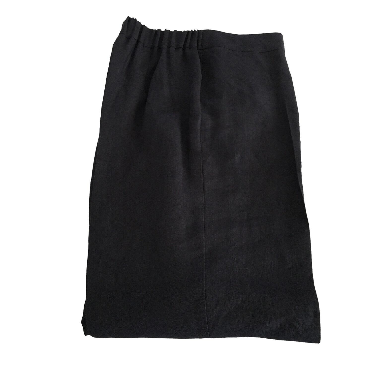 PERSONA by Marina Rinaldi women's trousers ROSSINI 100% linen bluee elastic