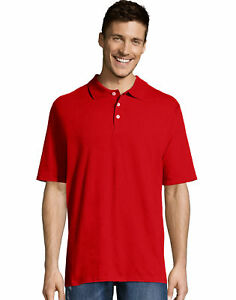 Hanes-X-Temp-Mens-Polo-Shirt-Short-Sleeve-Sport-Performance-Tee-Top-Golf-Wicking