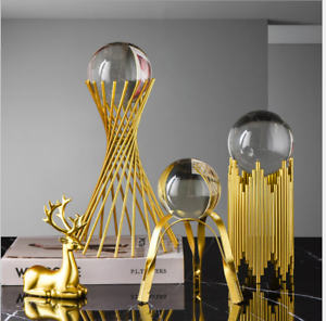 For Sphere Crystal Balls Displays Gold Metal Base Stand Not include ball