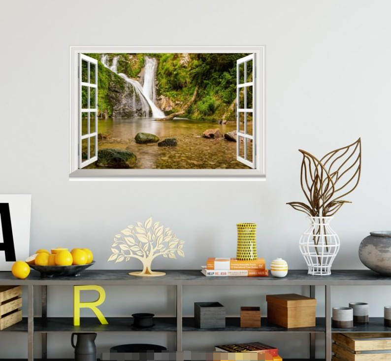 3D Weiß Stream 0238 Open Windows WallPaper Murals Wall Print AJ Carly
