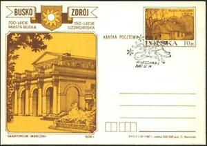 Postcard-700th-Anniversary-of-Busko-039-s-City-1987-from-Poland-avdpz