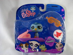 BNIB-LITTLEST-PET-SHOP-PINGUIN-WITH-JET-SKI-AND-GOGGLES-821