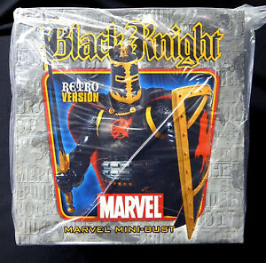Black-Knight-Retro-Bust-Statue-New-Factory-Sealed-Bowen-Designs-Marvel-Amricons