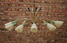 50er VINTAGE TÜTENLAMPE DECKENLAMPE Mid Century LEUCHTE LAMPE LAMP Kronleuchter
