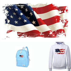 US-National-Flag-Patch-Printed-Sticker-Heat-Transfer-Iron-on-Patches-for-Clothes