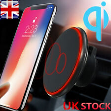 Qi Wireless Car Charger Magnetic Air Vent Mount Holder For iPhone Samsung Phone