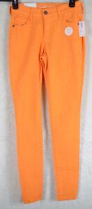 19ef600a43 OLD NAVY Mid-Rise ROCKSTAR POP COLOR Skinny Leg Ankle JEANS ORANGE ...