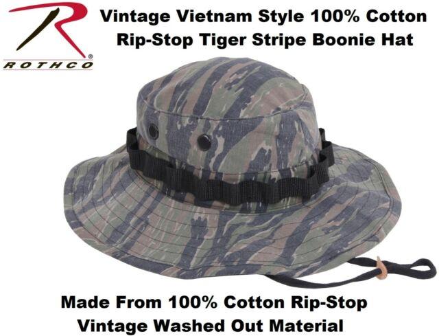 1609ca4e081 Rothco Vintage Vietnam Style Boonie Hat Tiger Stripe Camo 7 1/4