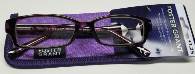6af1a92f32a Aurora Purple Foster Grant Reading Glasses W  Case 1.25 for sale ...