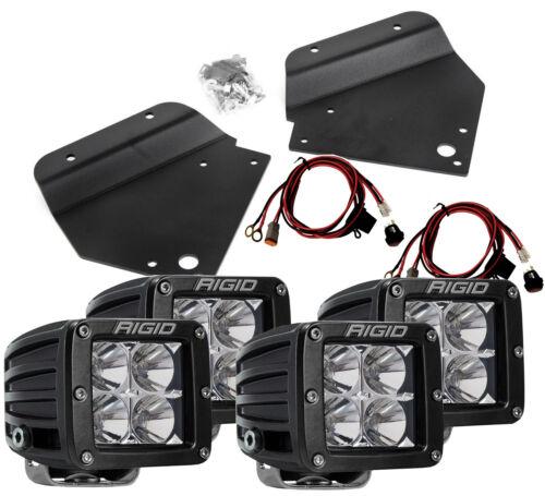 RIGID Fog Light Kit w// 4 D-Series PRO LED Lights for 10-14 Ford Raptor SVT 40235