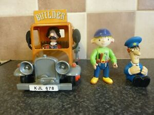 3x-VINTAGE-POSTMAN-PAT-BOB-THE-BUILDER-FIGURES-amp-BUILDER-VAN