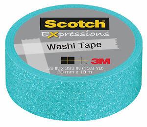 Scotch-Expressions-Pastel-Blue-Decorative-Glitter-Tape-by-3M-15mm-x-5m