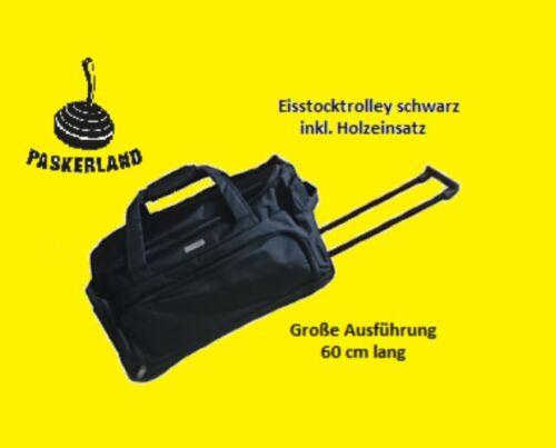 Tasche Eisstock Trolley groß top Qualität! Farbe schwarz für Eisstock