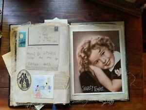 Vintage-Scrapbook-Memorabilia-Shirley-Temple-photo-Valentines-ephemera-1930-039-s