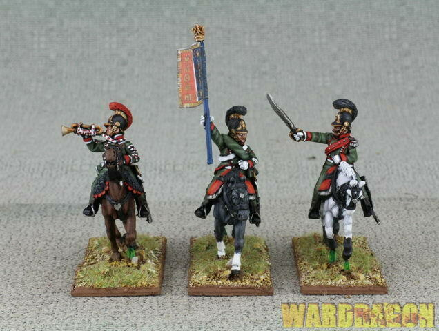 WDS painted Napoleonic French FN38 1 st Chasseurs a Cheval command galloping h12