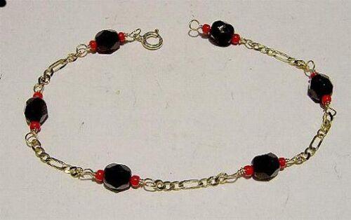 Nouveau 14kt Or Femmes AZABACHE Bracelet-Livraison gratuite!