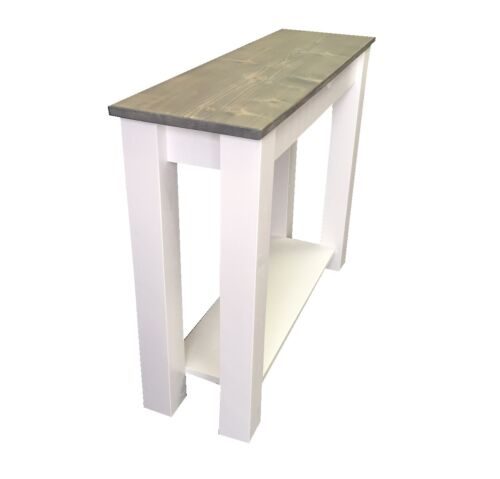 Entry Table, End Table, Foyer Console Table shelf storage Cottage Sofa Table