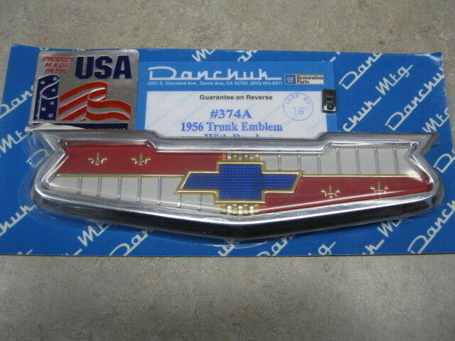 Danchuk 374A Emblem 1956 Chevrolet Trunk Bowtie Chrome Each