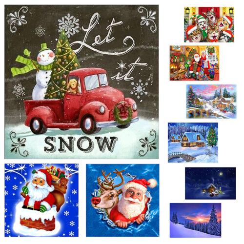 Navidad Santa Claus Hágalo usted mismo Completo 5D Diamante Pintura Kit Punto De Cruz Decoración del hogar