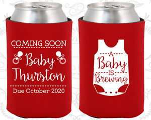 Baby Shower Koozies Koozie Supplies 90039 A Baby Is Brewing