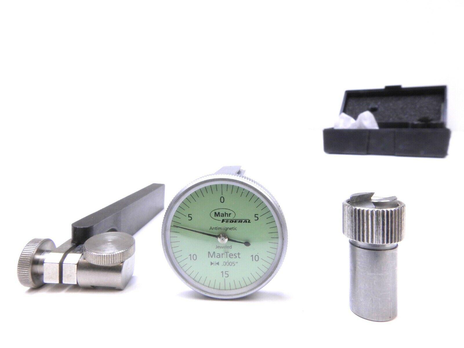 Mahr Martest 801V 0-15-0 Vertical Dial Test Indicator Kit
