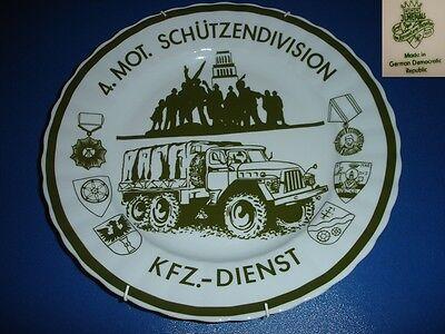 VEB Graf von Henneberg Ilmenau Ehrenteller 4.Mot.Schützendivision KFZ-Dienst NVA