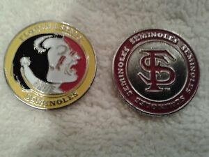 Florida-State-University-Seminoles-Golf-Ball-Marker-Double-Sided-Set-of-4