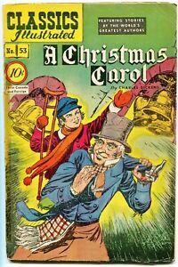Classics-Illustrated-A-Christmas-Carol-53-0-10-1st-Edition-HRN-53-VG