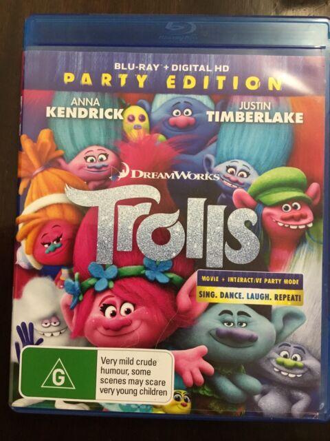 TROLLS Party Edition Blu Ray & Digital HD Justin Timberlake Like New DVD