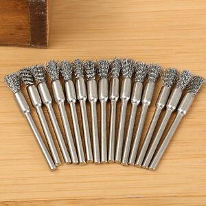 10 pi ces mini acier inox pinceau brosse m tallique pour perceuse outil rotatif ebay. Black Bedroom Furniture Sets. Home Design Ideas