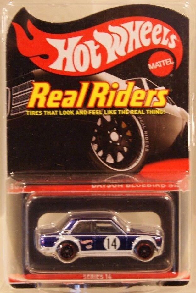 Datsun blueeebird 510 Hot Wheels RLC 2017 Series 14 Real Riders  7000 blueeE
