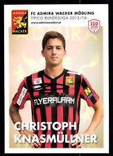 Christoph Knasmüllner Autogrammkarte FC Admira Wacker Mödling 2015-16  A 113403