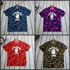 NWT Men's Camo Bape Monkey Head Pattern Round Neck A Bathing Ape T-Shirt S-XXl