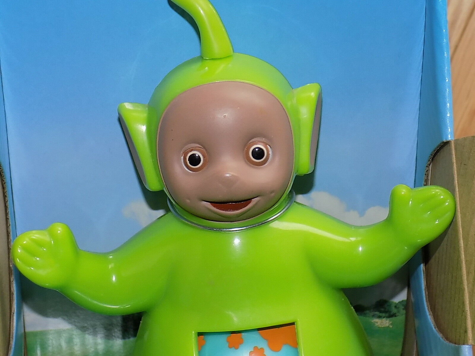 Teletubbies Dipsy Toddlin Toddlin Toddlin Teletubby Playskool 1998 roll along daycare toddlers 4d2199