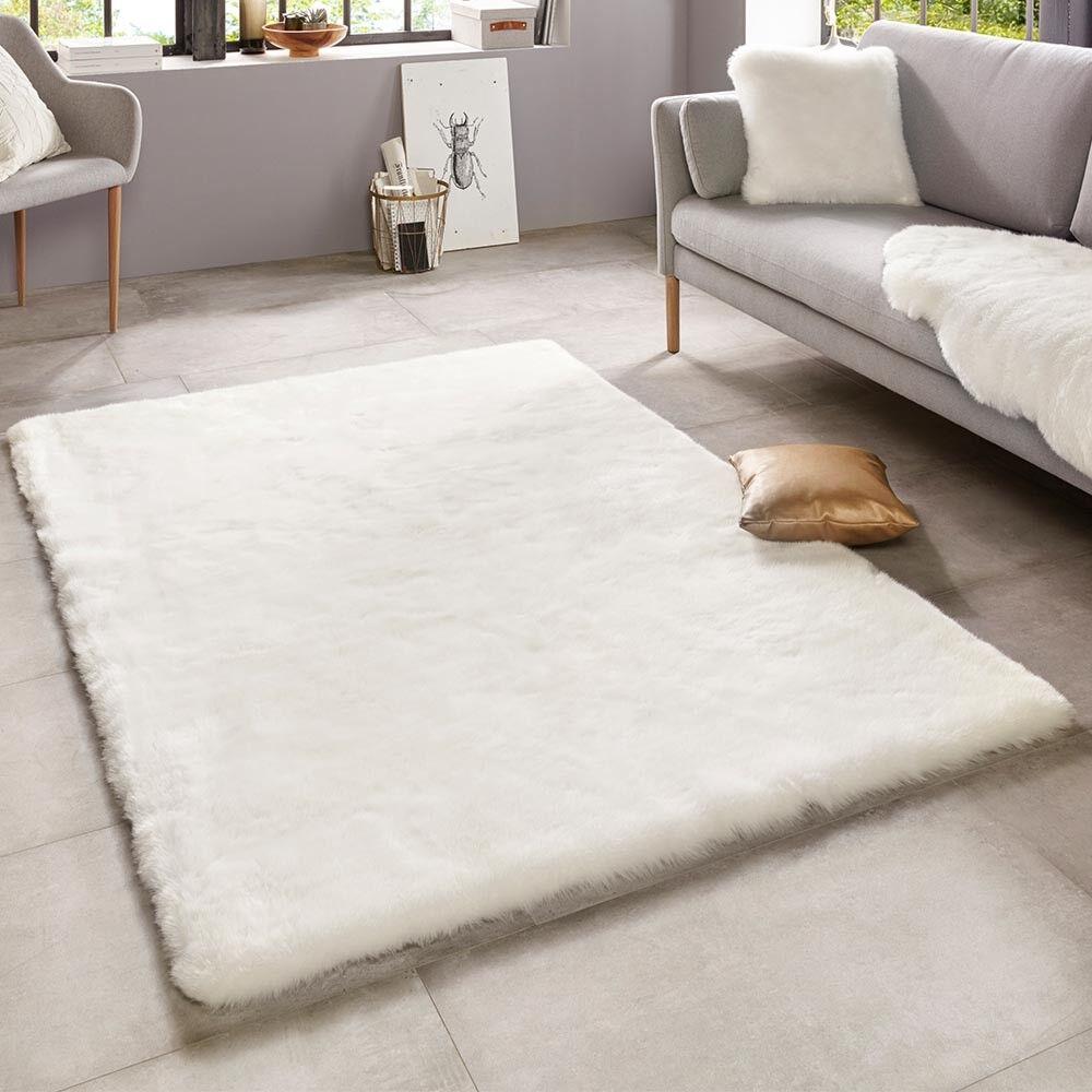 Morbido pelo sintetico tappeto superior UNI bianca BIANCO CREMA