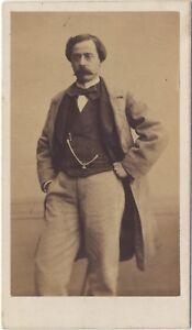 Ritratto Un Uomo Posa 1 Second Empire CDV Vintage Albumina Ca 1860