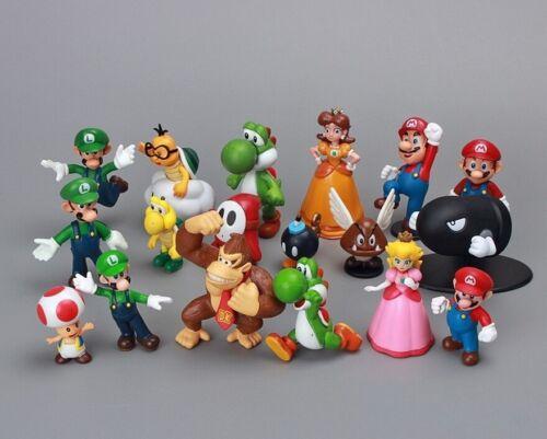 Set 18 figuras Mario SUPER MARIO BROS Luigi Yoshi peach Toad
